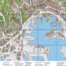 Gênes carte touristique » Vacances   Arts  Guides Voyages